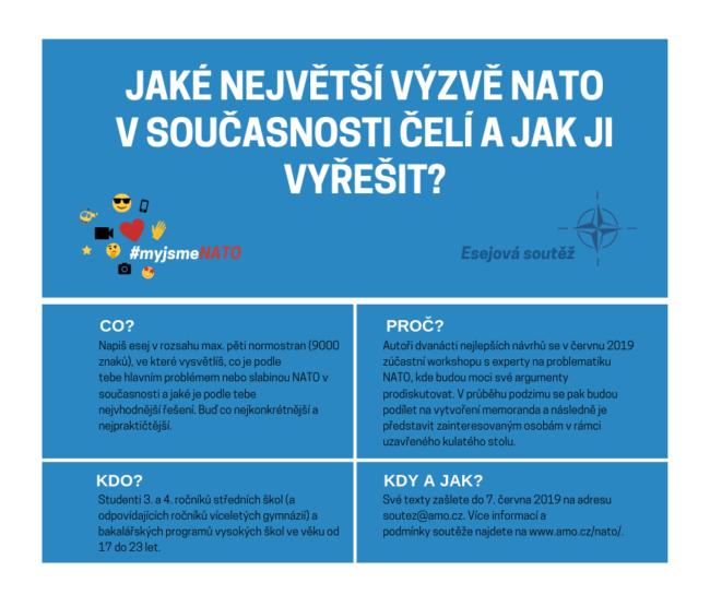 """SOUTĚŽ pro studenty ve věku 17-23 let. Napiš esej na téma """"Jaké největší výzvě NATO v současnosti čelí a jak ji vyřešit?"""""""