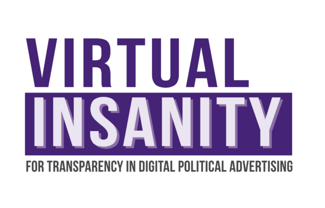 AMO is a part of the project Virtual Insanity: Transparency in Digital Political Advertising
