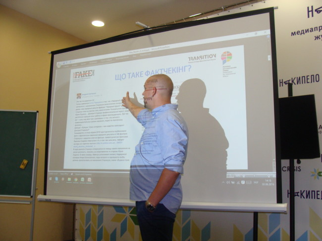 The first workshops on factchecking were organized in Kharkiv and Zaporozhye