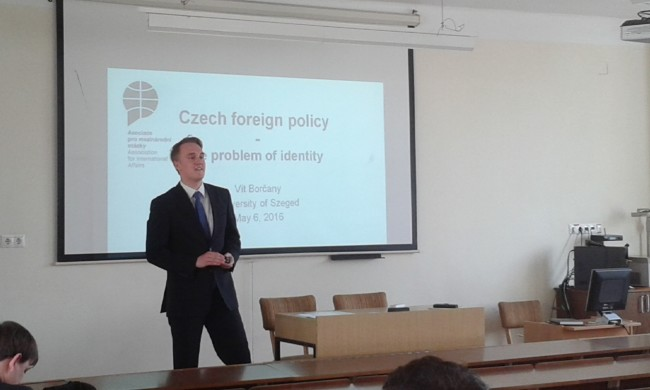 Vít Borčany gave a lecture within the Visegrad University Studies Grant