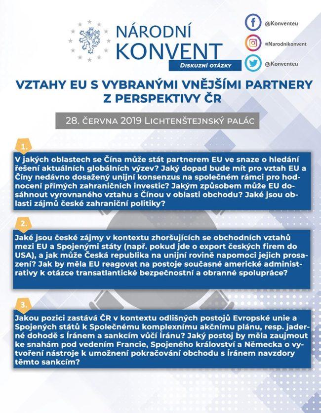 Vztahy EU s vybranými vnějšími partnery z perspektivy ČR